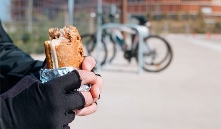 Healthy food for cyclists