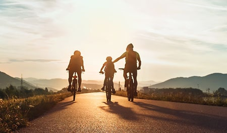 Cycling with family benefits